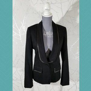 Club Monaco Black Single Button Fitted Blazer